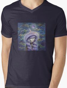 Witch Moon Mens V-Neck T-Shirt
