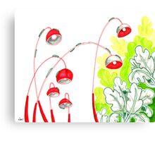 Sketch 13 ... battle of the caterpillars Canvas Print