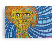 330 - FLORAL MANGA GIRL - DAVE EDWARDS - MIXED MEDIA - 2011 Canvas Print