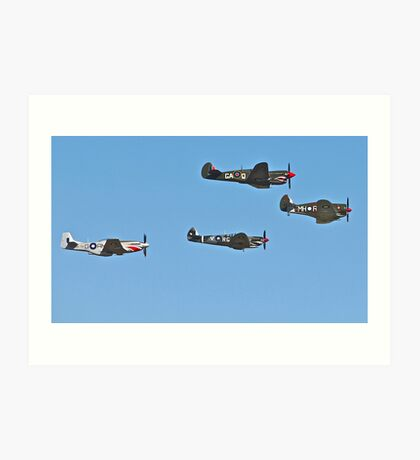 Stunning WWII War Birds. Art Print