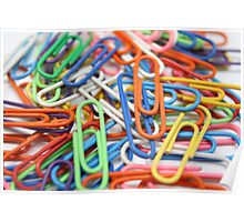 a cluster of paper clips Poster