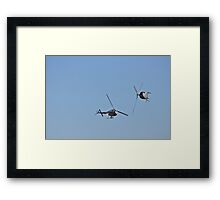 Pair of Royal Australian Navy Squirrel Helicopters Framed Print