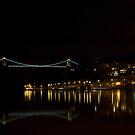 Clifton Suspension bridge at Night by Brian Roscorla