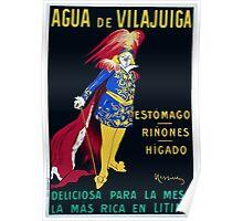 Leonetto Cappiello A man in theatrical costume advertising Vilajuiga mineral wa Wellcome L0023029 Poster