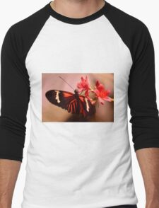 Natural world of butterflies - No.# I Men's Baseball ¾ T-Shirt