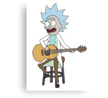 Rick and Morty-- Tiny Rick Guitar Canvas Print