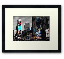Time Square Framed Print