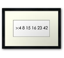 lost fan bad luck numbers Framed Print