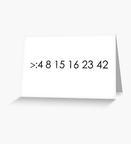 lost fan bad luck numbers Greeting Card