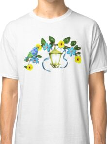 Blue Bird and Blue Flower Classic T-Shirt