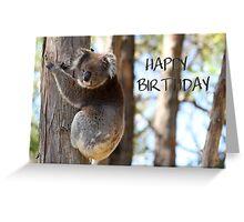 Happy Birthday Koala Greeting Card