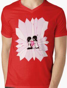 Exploding Hearts Mens V-Neck T-Shirt