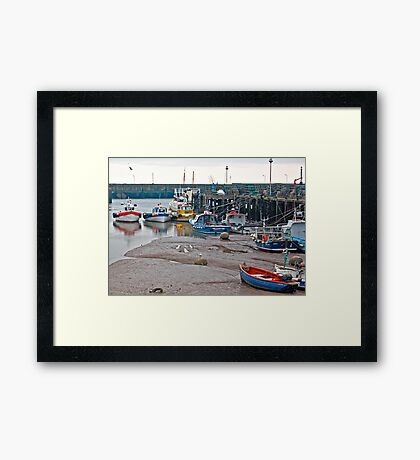 Awaiting The Evening Tide. Framed Print