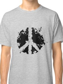 Peace sign in black Classic T-Shirt