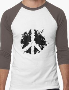 Peace sign in black Men's Baseball ¾ T-Shirt