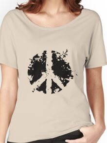 Peace sign in black Women's Relaxed Fit T-Shirt