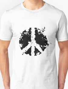 Peace sign in black Unisex T-Shirt