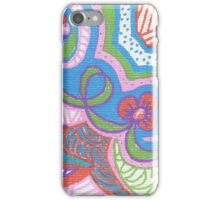 Bright Flowers and Doodles iPhone Case/Skin