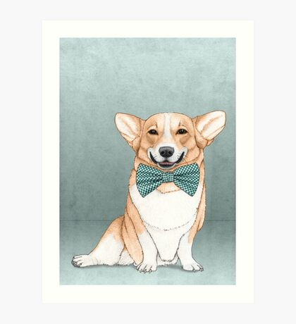 Corgi Dog Art Print