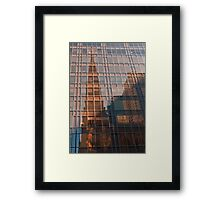 st. patrick's cathedral reflection Framed Print