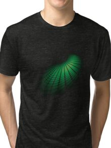 Abstract green sphere Tri-blend T-Shirt