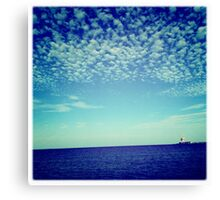 Bubbles and bubbles of clouds Canvas Print