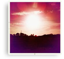 Red Hot Sunset Canvas Print