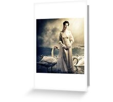Her Swans Greeting Card