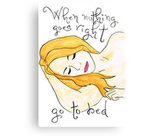 Go to Bed Canvas Print