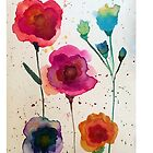 Taylor Swift - Watercolor Flowers by SarahMeima