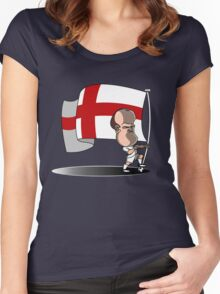 Wayne Rooney -England Women's Fitted Scoop T-Shirt