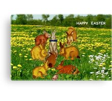 Happy Easter for Kids Canvas Print