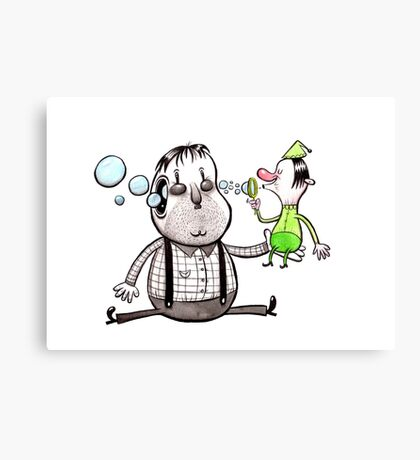 Bubble Elf Canvas Print