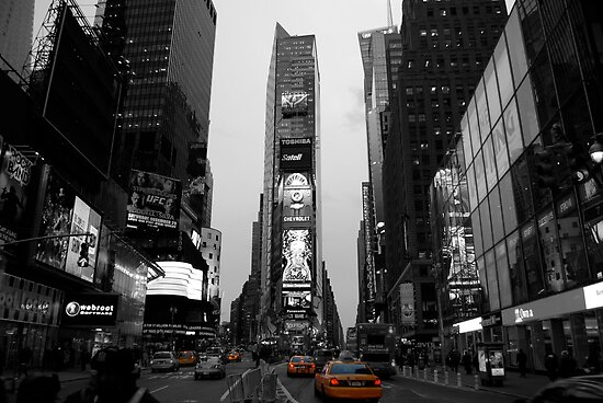 Cab at Time Square by Thomas Stroehle