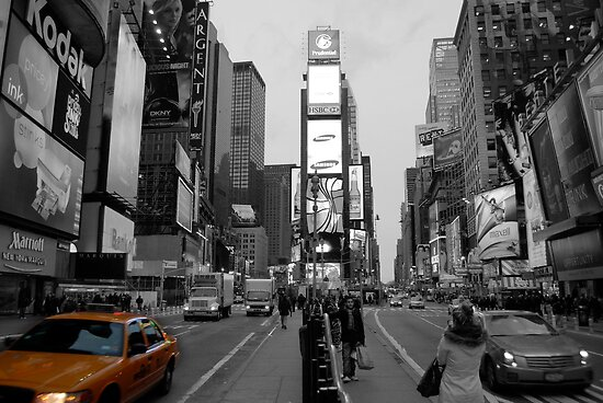 Cab at Time Square 3 by Thomas Stroehle
