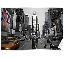 Cab at Time Square 2 Poster