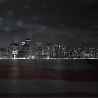 Manhattan with flag by Thomas Stroehle