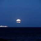 Super Moon in a Sea of Blue by AnneRN