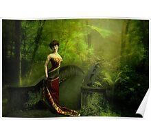 Savannah in Green Poster