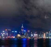 Skyline Victoria Harbor by Thomas Stroehle