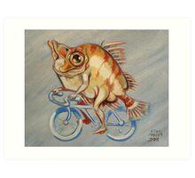 Boarfish On A Bicycle Art Print
