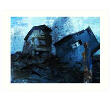 Mother with child - devastated Art Print