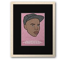 """Earl Sweatshirt """"Solace"""" Inspired Poster Framed Print"""
