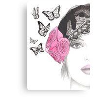 Butterfly Belle Metal Print