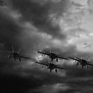 Jets Flying into the Storm by Buckwhite