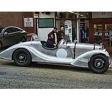 Silver Roadster= One For The Boys Photographic Print