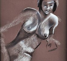 Reclining female nude #3 by Jan Szafranski