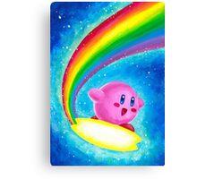 Kirby Rainbow Canvas Print