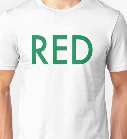 Red (Auerbach) - Green Unisex T-Shirt