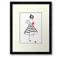 Designer Dress Framed Print